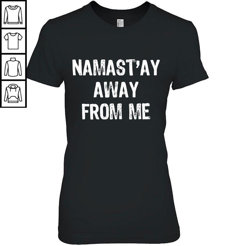 Namast'ay Away From Me Christmas TShirt Ladies V-Neck