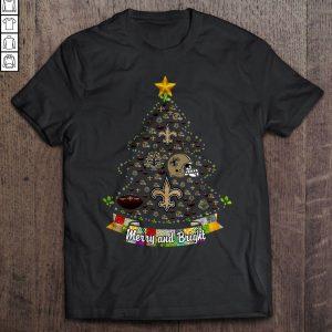 358b6505 merry and bright new orleans saints nfl christmas tree tshirt shirt