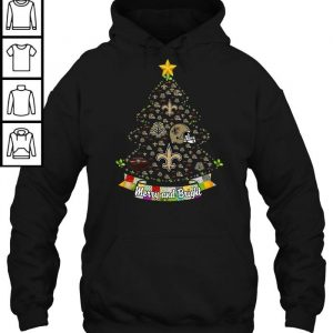9987cfe0 merry and bright new orleans saints nfl christmas tree tshirt classic ladies tee
